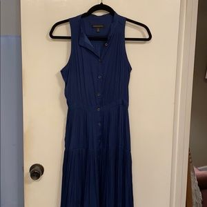 Banana republic blue long dress. EUC.